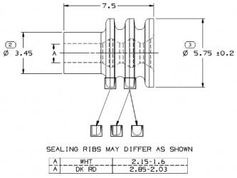 Metripack 150 Cable Seal White